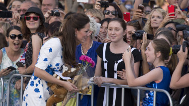 A visit by the Duke and Duchess of Cambridge would lift Queenslanders' spirits, as it did at South Bank in 2014.