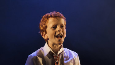 Jamie Rogers at the Billy Elliot cast announcement on Friday.