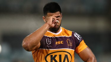 Payne Haas was fined $50,000 by the NRL this week.
