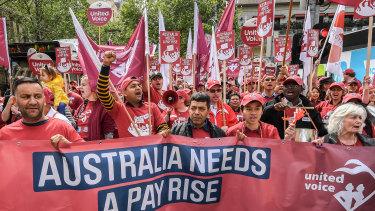 The Melbourne ACTU rally