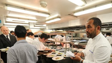 Last service for Guillaume Brahimi's Bennelong restaurant, New Year's Eve 2013.