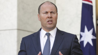 "Treasurer Josh Frydenberg says the stimulus package is about ""building a bridge""."