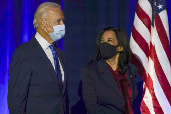 Joe Biden and Kamala Harris on Friday night (US time).