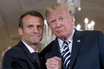 The once cosy relationship between US President Donald Trump and French President Emmanuel Macron has soured.