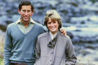 Prince Charles and Princess Diana pose together at Balmoral in 1981.