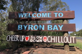 The Premier has advised people planning to travel to Byron Bay to reconsider their plans.