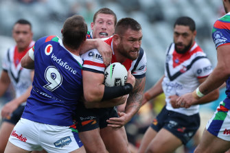 Jared Waerea-Hargreaves' Roosters looked out of sorts in a match they were expected to dominate.
