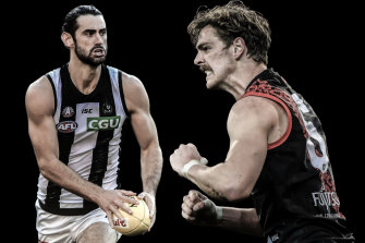 Brodie Grundy and Joe Daniher.