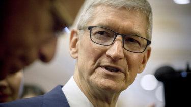 Apple chief Tim Cook has taken aim at Facebook.