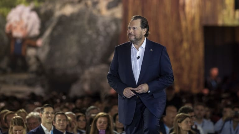Salesforce founder Marc Benioff placed a heavy focus on voice technology at Salesforce's annual Dreamforce conference.