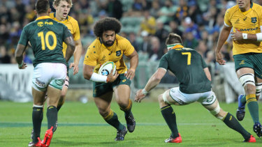 Back for more: Polota-Nau answered the call from Wallabies coach Michael Cheika and will press his claim for a third World Cup.