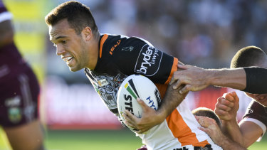 Easy, Tiger: Luke Brooks has reminded pundits he's still a youngster.