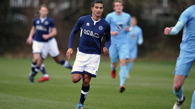 Tim Cahill marked his return to match action with a goal for Millwall u23s.
