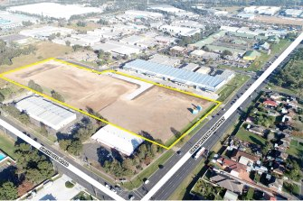 The englobo site at 1079 Great Western Highway, Minchinbury.
