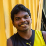 In the name of the father: Maurice Rioli jnr arrives at Richmond