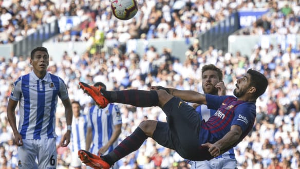 Barca ride luck to sink Sociedad as Real drop first points
