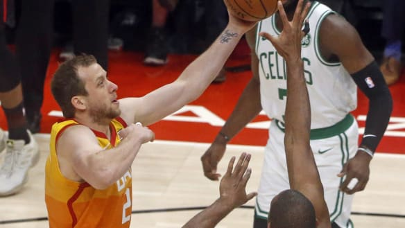 NBA wrap: Aussie Joe Ingles reaches new heights as Jazz beat Boston