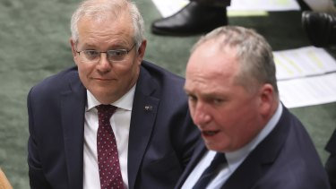 Prime Minister Scott Morrison is negotiating with Nationals leader Barnaby Joyce over a net zero policy that will impact the major export industries in regional electorates.