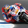 High-speed education of a motorcycle racing man