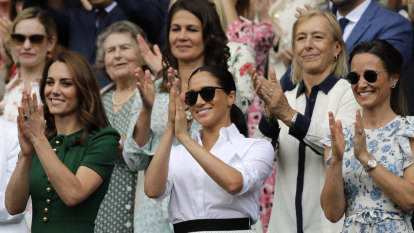 Duchesses Meghan and Kate all smiles for Wimbledon final