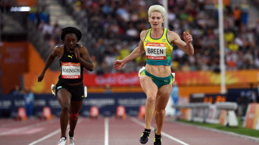 Melissa Breen in action on the Gold Coast.