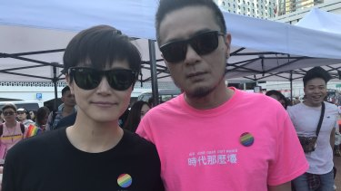 Pop stars Denise Ho and Anthony Wong.