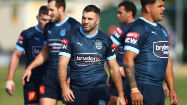 James Tedesco needed two pain-killing injections at half-time to finish the State of Origin series opener.