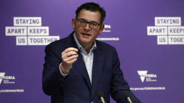 """Premier Andrews said he was pleased to see Friday's number with a """"1 in front of it""""."""