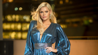 Sophie Monk hosts the dating show Beauty and the Geek.