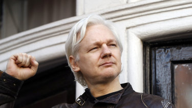 Julian Assange pictured in 2017.