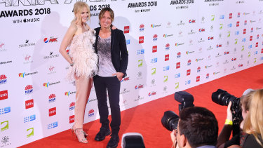 Nicole Kidman and Keith Urban at the 32nd ARIA Awards at The Star on Wednesday.