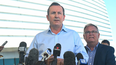 WA Premier Mark McGowan with Culture and the Arts Minister David Templeman.