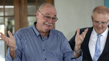 Great Barrier Reef Special Envoy and Leichhardt MP Warren Entsch with Prime Minister Scott Morrison in Cairns last year.