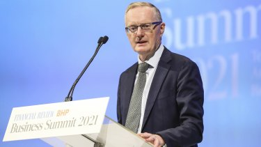 Reserve Bank of Australia Philip Lowe speaking at The Australian Financial Review Business Summit on Wednesday.