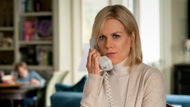 Nicole Kidman shines as a nervous Gretchen Carlson.
