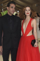 Byrne and her partner Bobby Cannavale at The Metropolitan Museum of Art's Costume Institute benefit gala in 2017.