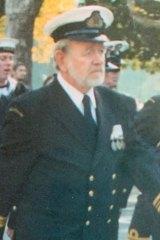 Michael Muschamp: navy man.