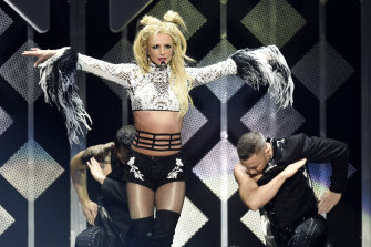 Britney Spears performs in 2016.