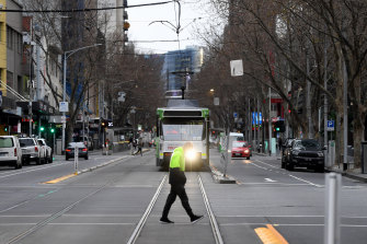 Streets are quiet street in Melbourne after the state went into lockdown for the sixth time.