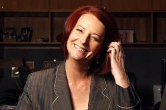 Australia s first female Prime Minister Julia Gillard poses for a portrait in her Parliament House office in Canberra on June 25, 2010.