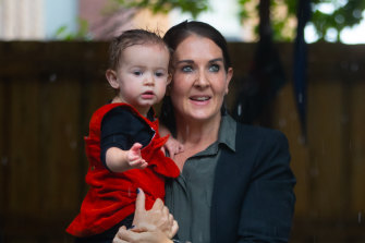 Park Street childcare centre and kindergarten manager Katrina Burgess, pictured with Manuela, says there are mixed messages about social distancing in relation to childcare.