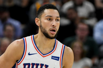 Ben Simmons came through on defence as the Sixers edged Indiana in Philadelphia.