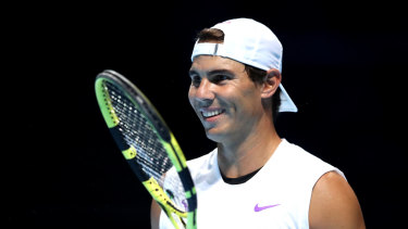 Rafael Nadal is optimistic he will overcome an abdominal issue in time for the finals.