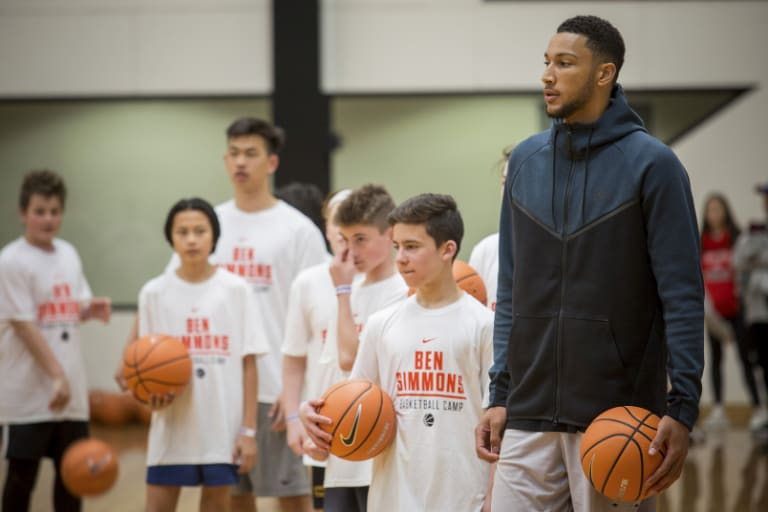 King of the kids: Ben Simmons' camp in Melbourne was the place to be for starry-eyed youngsters.