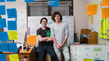 Shane and Brett Hodgkins, co-founders of materials and project tracking app Matrak.