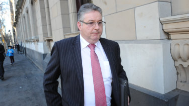 Jim O'Brien, the former head of the Purana taskforce, outside the Supreme Court in 2012 after Mokbel was jailed.