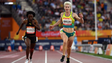 Melissa Breen in action at the Commonwealth Games on the Gold Coast last April.