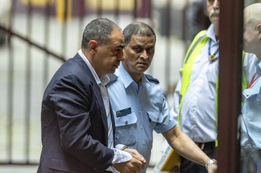 Murat Davsanoglu arrives at the Supreme Court for an earlier hearing.