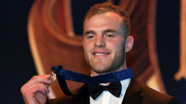 Tom Mitchell after winning last year's Brownlow Medal.