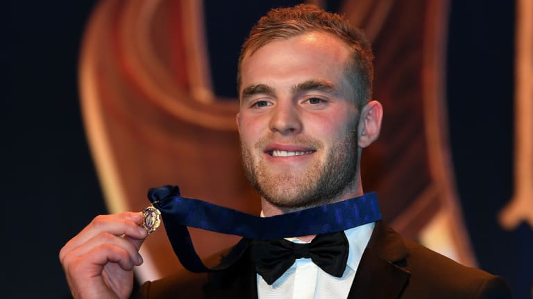 Major Mitchell: Tom Mitchell after securing this year's Brownlow Medal.